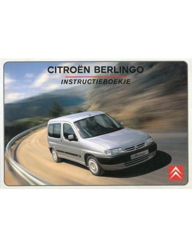 2001 citroen berlingo owners manual handbook dutch rh autolit eu citroen nemo instruction manual citroen nemo owners handbook pdf