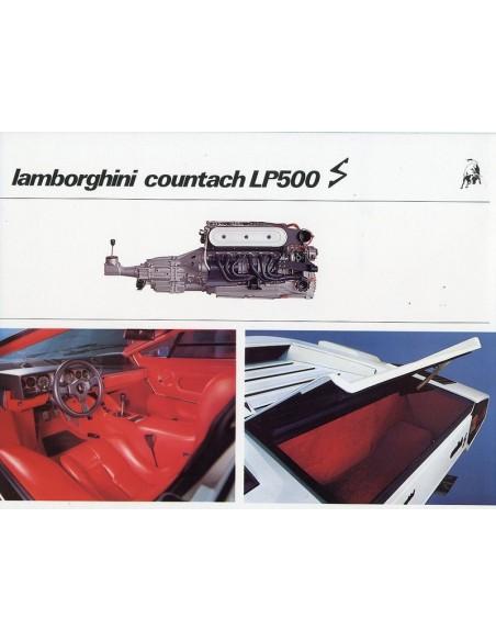 1982 LAMBORGHINI COUNTACH LP500 S BROCHURE