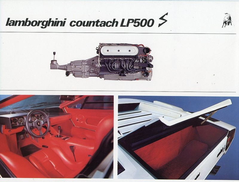 1982 lamborghini countach lp500 s brochure. Black Bedroom Furniture Sets. Home Design Ideas