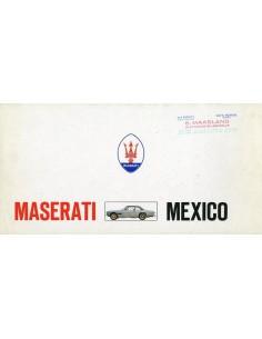 1969 MASERATI MEXICO BROCHURE