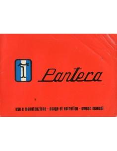 1972 DE TOMASO PANTERA INSTRUCTIEBOEKJE
