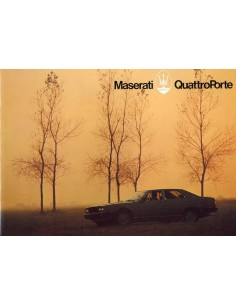 1979 MASERATI QUATTROPORTE BROCHURE FRANS