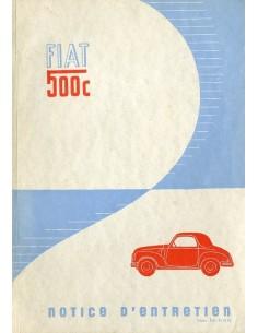 1949 FIAT 500 C INSTRUCTIEBOEKJE FRANS
