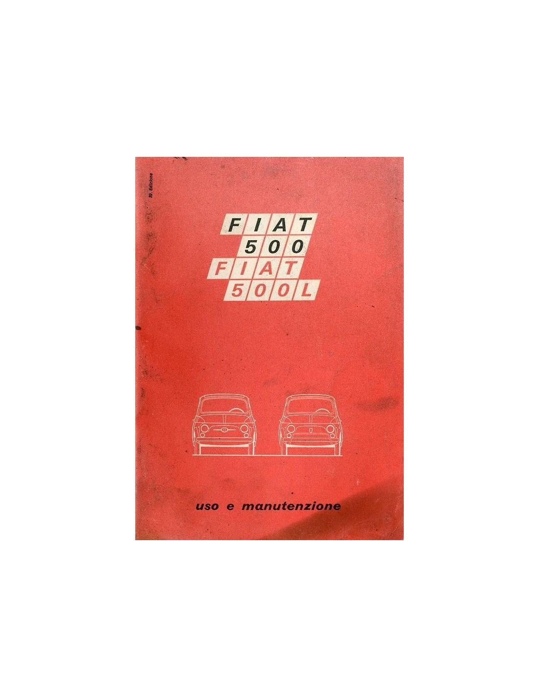 1971 fiat 500 l owners manual handbook italian rh autolit eu Abarth Manual Fiat 500 Complaints