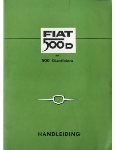 1961 FIAT 500 D & GIARDINETTA INSTRUCTIEBOEKJE NEDERLANDS