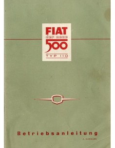 1957 FIAT 500 INSTRUCTIEBOEKJE DUITS