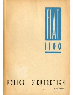 1948 FIAT 1100 INSTRUCTIEBOEKJE FRANS