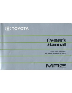 1989 toyota mr2 owner s manual english rh autolit eu Toyota MR2 Spyder 1991 toyota mr2 owners manual pdf