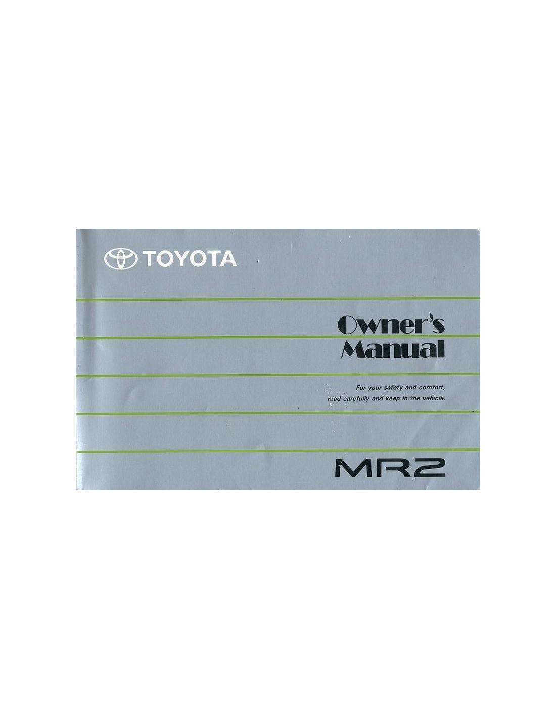 1989 toyota mr2 owner s manual english rh autolit eu 1991 toyota mr2 owners manual pdf toyota mr2 user manual