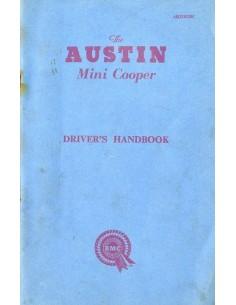 1962 AUSTIN MINI COOPER INSTRUCTIEBOEKJE ENGELS