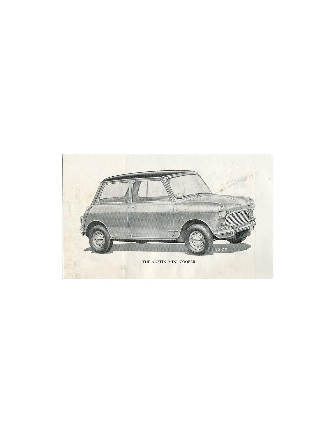 1962 austin mini cooper owners manual handbook english. Black Bedroom Furniture Sets. Home Design Ideas