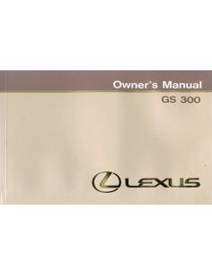 1994 LEXUS GS 300 INSTRUCTIEBOEKJE ENGELS
