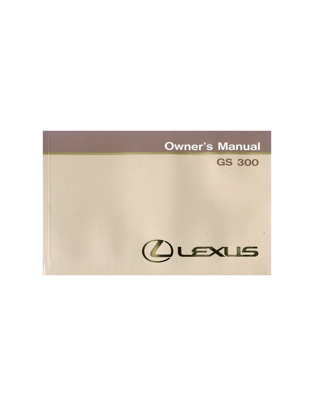 1994 lexus gs 300 owners manual handbook english rh autolit eu lexus es 300 owners manual 1996 2003 lexus is 300 owners manual