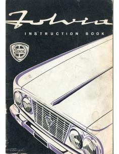 1963 LANCIA FULVIA BERLINA INSTRUCTIEBOEKJE ENGELS