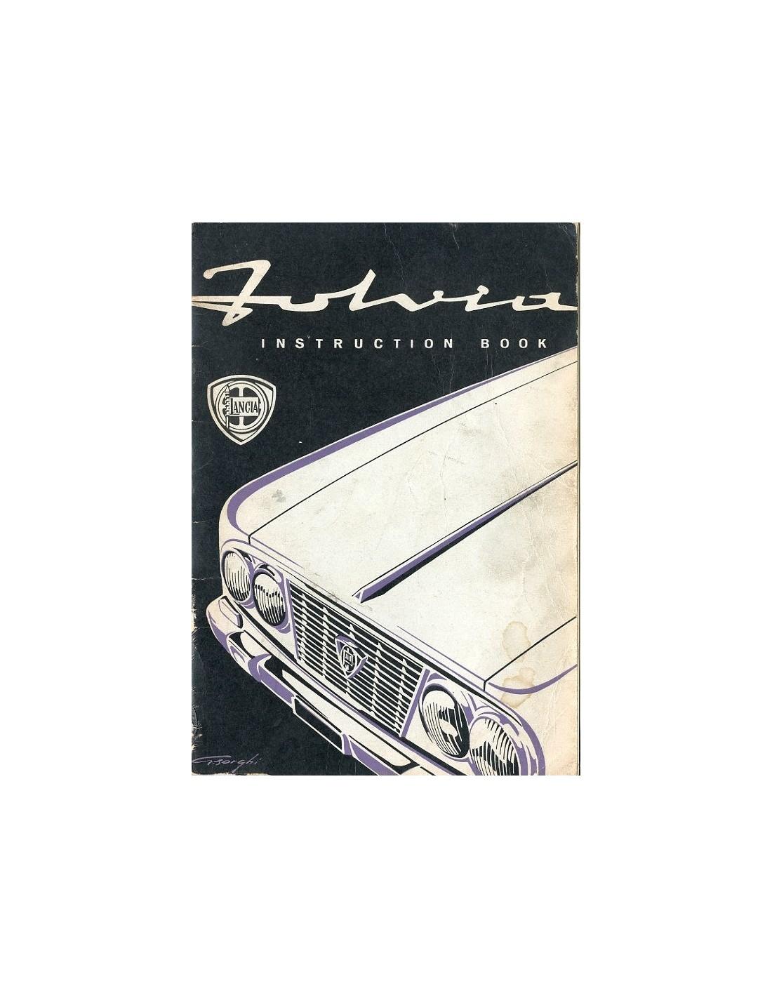 1963 lancia fulvia berlina owners manual handbook english rh autolit eu Lancia Thema Lancia Thema