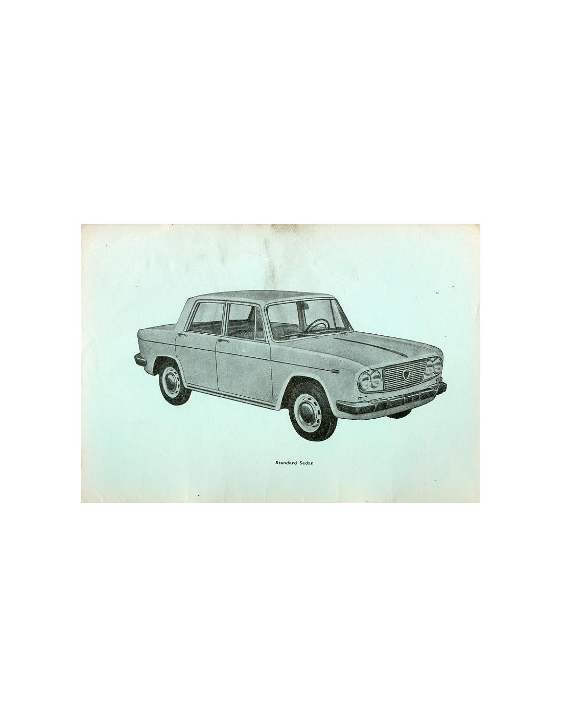 1963 lancia fulvia berlina owners manual handbook english rh autolit eu Lancia Zagato Lancia Zagato