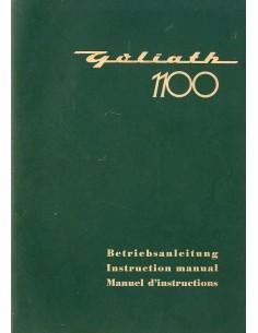 1957 GOLIATH 1100 INSTRUCTIEBOEKJE DUITS ENGELS FRANS