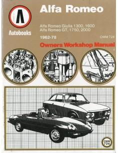 1962 - 1978 ALFA ROMEO GIULIA GT SPIDER BENZINE VRAAGBAAK ENGELS