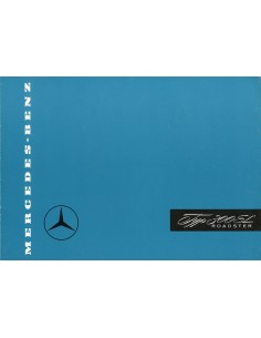 1956 MERCEDES BENZ 300 SL ROADSTER BROCHURE DUITS