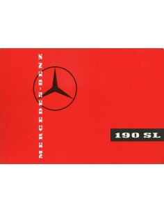 1959 MERCEDES BENZ 190 SL ROADSTER & COUPE BROCHURE DUITS