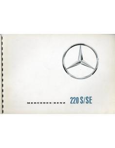1965 MERCEDES BENZ 220 S/SE BROCHURE FRANS & NEDERLANDS