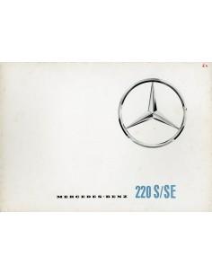 1961 MERCEDES BENZ 220 S/SE BROCHURE DUITS