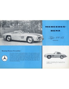 1959 MERCEDES BENZ 300 SL ROADSTER LEAFLET ENGELS USA