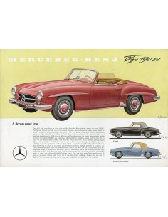 1959 MERCEDES BENZ 190 SL ROADSTER LEAFLET ENGELS USA
