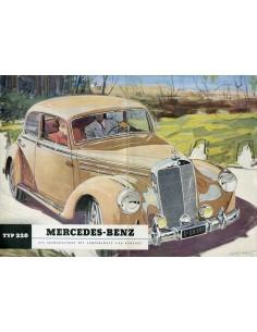 1951 MERCEDES BENZ TYPE 220 BROCHURE DUITS