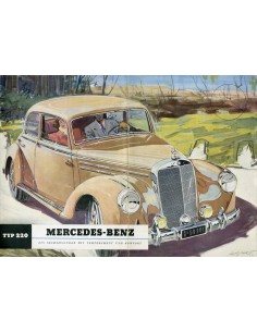 1951 MERCEDES BENZ TYPE 220 BROCHURE DUITS