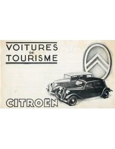 1936 CITROEN PROGRAMMA BROCHURE FRANS