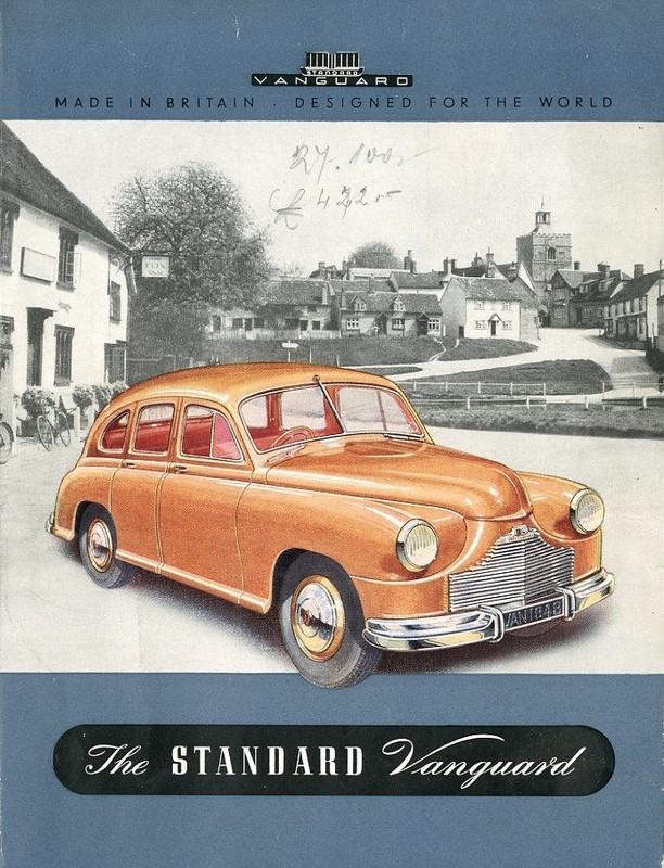 1948 standard vanguard brochure german