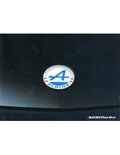 1990 RENAULT A610 TURBO INSTRUCTIEBOEKJE DUITS