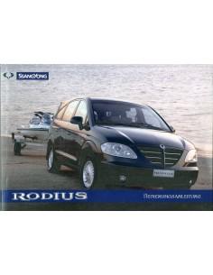 2005 SSANGYONG RODIUS INSTRUCTIEBOEKJE DUITS