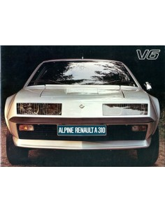 1978 ALPINE A310 V6 BROCHURE NEDERLANDS