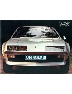 1978 ALPINE A310 V6 BROCHURE NEDERLANDS