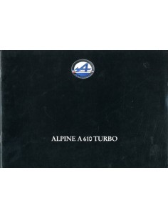 1993 ALPINE A610 TURBO BROCHURE FRANS