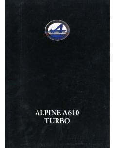 1992 ALPINE A610 TURBO BROCHURE DUITS