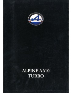 1992 ALPINE A610 TURBO BROCHURE DUITS