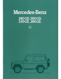 1983 MERCEDES BENZ G KLASSE BROCHURE NEDERLANDS