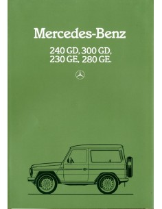 1982 MERCEDES BENZ G KLASSE BROCHURE NEDERLANDS