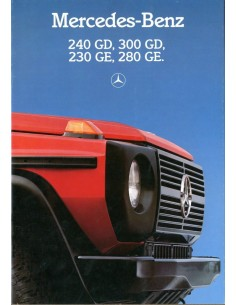 1986 MERCEDES BENZ G KLASSE BROCHURE NEDERLANDS