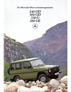 1980 MERCEDES BENZ G KLASSE BROCHURE NEDERLANDS
