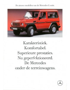 1989 MERCEDES BENZ G KLASSE BROCHURE NEDERLANDS