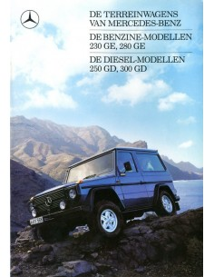 1987 MERCEDES BENZ G KLASSE BROCHURE NEDERLANDS