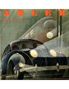 1939 ADLER 2.5 LITER BROCHURE DUITS