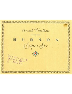 1928 HUDSON SUPER SIX BROCHURE ENGELS USA