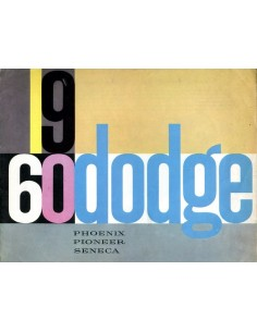 1960 DODGE PROGRAMMA BROCHURE NEDERLANDS