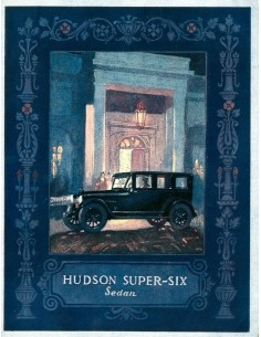 1924 HUDSON SUPER SIX SEDAN BROCHURE ENGELS USA