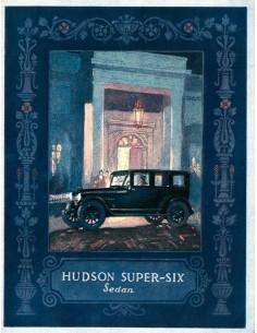 1924 HUDSON SUPER SIX SEDAN BROCHURE ENGELS USA